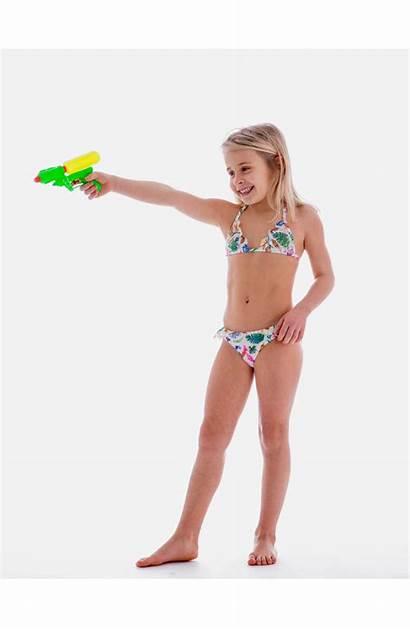 Bikini Triangle Laces Sliding Kid Swimsuits Stars