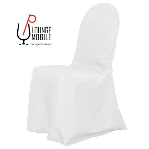 housse de chaise dossier rond housse de chaise polyester blanc rond décoration les