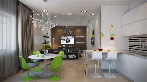 agencement d une chambre salle à manger design dans un petit appartement de ville