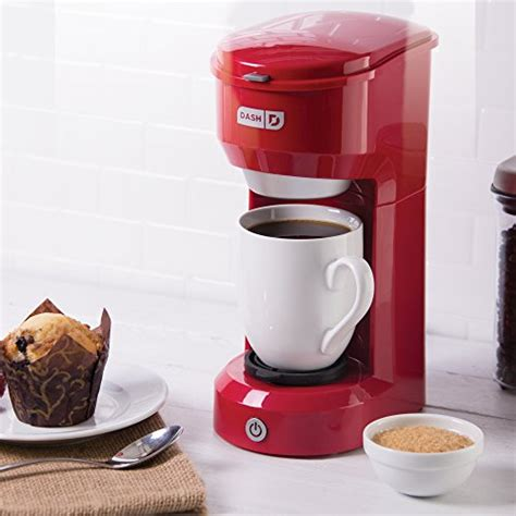 Enjoy a delicious cold, caffeinated treat anytime with the dash rapid cold brew. Dash Coffee Maker, Red, Best offer