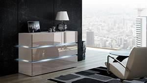 Sideboard 120 Cm : kaufexpert kommode shine sideboard 120 cm cappuccino hochglanz wei led beleuchtung modern ~ Watch28wear.com Haus und Dekorationen