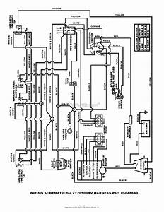 Snapper Zt20500bv  5091001  50 U0026quot  20 Hp Ztr Fastcut Series 0 Parts Diagram For Wiring Schematic 20hp