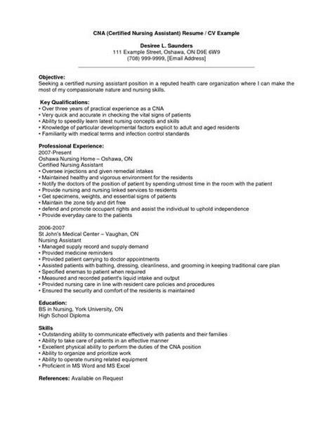 pin  cna resume sample