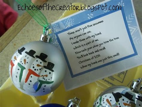 homemade christmas gifts for parents snowmen and poem