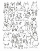 Paper Doll Coloring Valentine Dolls Pages Printable Dress Missy Miss Valentines Template Templates Disney Paperdolls Christmas Adult Clothes Princess sketch template