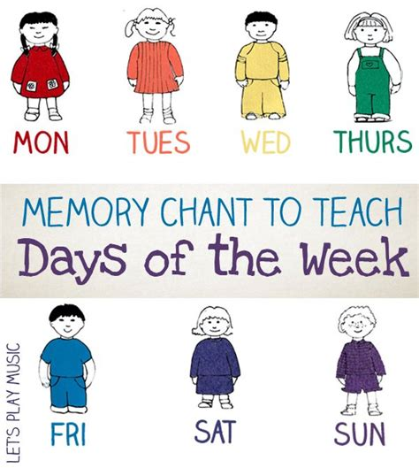 days of the week song calendar activities for 192 | 41574649759e4a55ea09582b37cce6ce