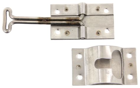 trailer door latch hook and keeper for enclosed trailer door stainless
