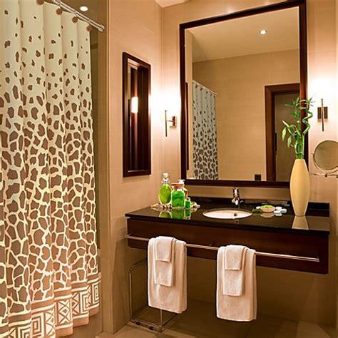 giraffe print      shower curtain bed bath