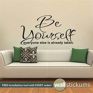 Quote wall stickers for bedrooms : Wall decal be yourself living room bedroom quote vinyl