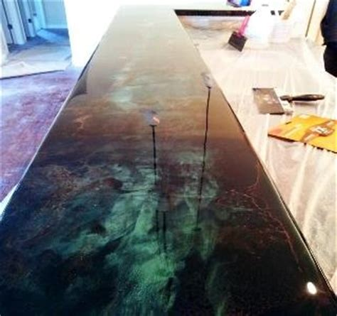 Poured Epoxy Floor Diy by Bar Tops Diy Countertops And Epoxy On