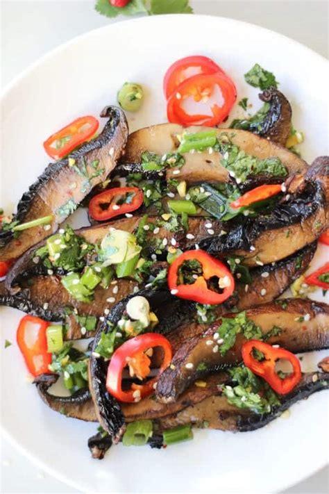 spicy asian roasted portobello mushrooms recipe wicked