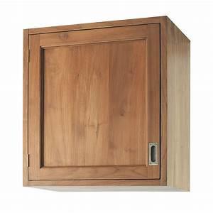Cuisine En Teck : meuble haut de cuisine ouverture droite en teck massif l ~ Edinachiropracticcenter.com Idées de Décoration