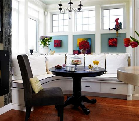 black color small breakfast nook table with pedestal