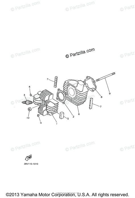 yamaha motorcycle 2004 oem parts diagram for cylinder partzilla