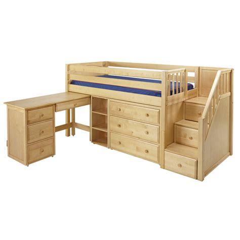 low loft bed with desk awesome dresser desk on great low loft bed with dresser