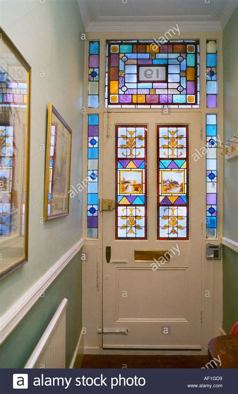 decorative victorian stained glass front door