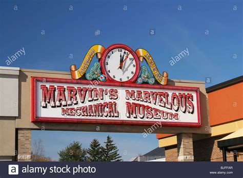 Sign For Marvins Marvelous Mechanical Museum In Farmington