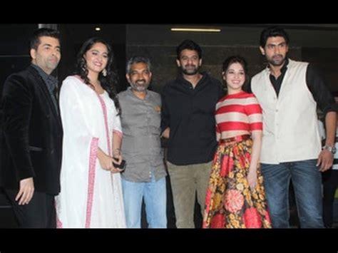 rana daggubati tamanna prabhas anushka karan johar at bahubali trailer launch