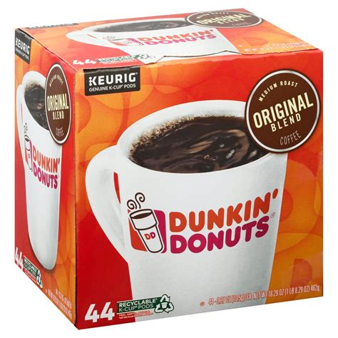 Choose from the wide variety of pastries. Dunkin' Donuts Original Blend Medium Roast Single Serve ...