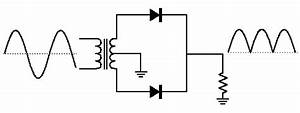 diode applications With full wave diode rectifier circuit diagram for centre tapped
