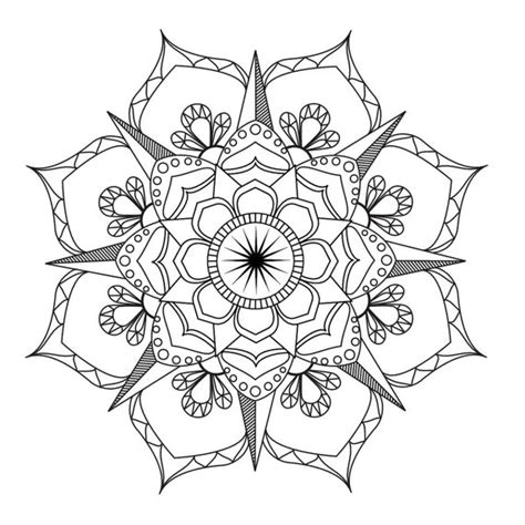 flower mandala coloring page adult coloring art therapy