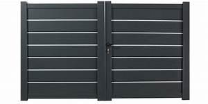 Portail 4 Metres 2 Vantaux : portail en aluminium double battants zirconium 4 m tres ~ Edinachiropracticcenter.com Idées de Décoration