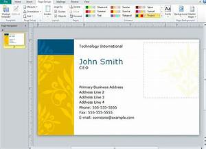 Creating business cards in microsoft publisher for Business card template publisher