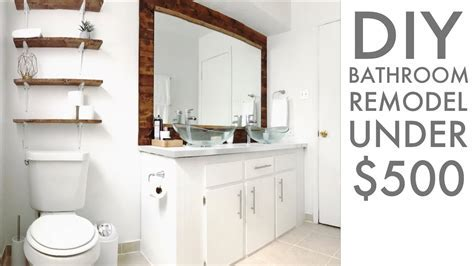 Remodeling a bathroom for Under $500   DIY   How To