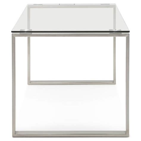 chrome bureau bureau droit table design et contemporain ingrid en verre