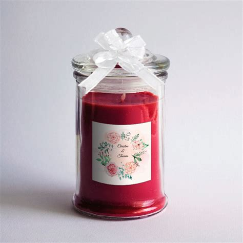 candele per bomboniere bomboniere candele rosse in vasetto di vetro matrimonio