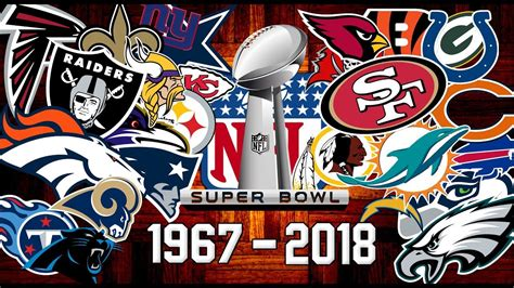 nfl  super bowl winners   youtube