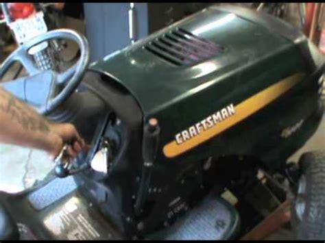 craftsman lt1000 deck belt adjustment craftsman mower deck engagement cable install doovi