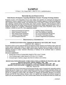 senior sales executive resume