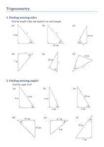 Find Missing Angles Worksheet Trigonometry Finding Missing Sides And Angles By Kirbybill Teaching Resources Tes