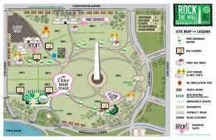 Washington DC Mall Monuments Map