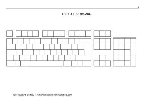 Touchtyping Skills Worksheet A (v1