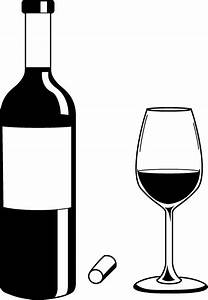 Liquor Bottle Black And White Clipart - Clipart Suggest