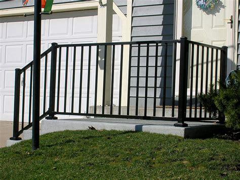 black porch railing ornamental aluminum iron porch railing by elyria fence