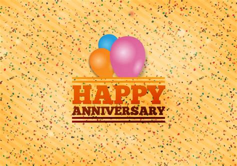Cool Happy Anniversary by Free Vector Happy Anniversary Background Free