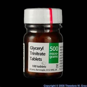 Nitroglycerin tablets, a sample of the element Nitrogen in ...