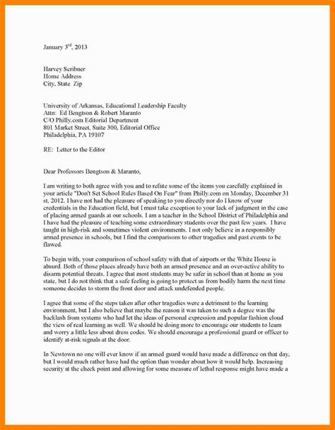6 how to write a letter to the editor exle emt resume