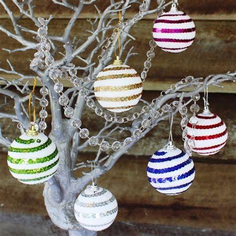 out door ribbon spursl trees 12pk sequin spiral hanging tree ornaments manzanita trees