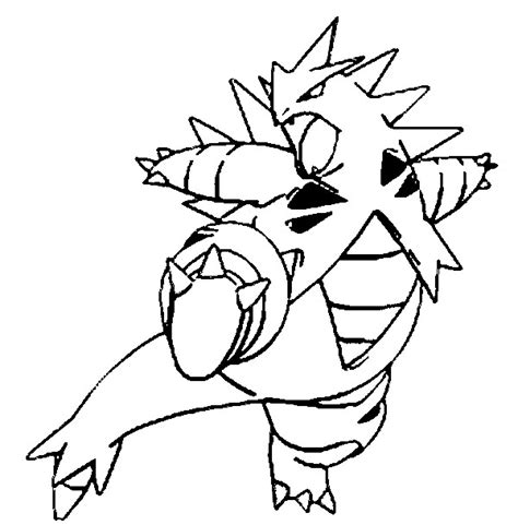 tyranitar coloring pages coloring pages