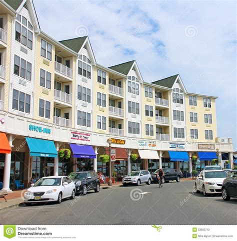 Pier Village Shops by Long Branch Pier Village Editorial Photography Image