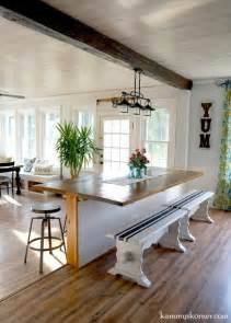 kitchen island made from reclaimed wood remodelaholic diy built in breakfast bar dining table