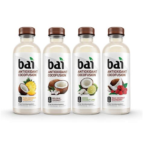 the bai bai antioxidant cocofusions variety pack 18 oz plastic bottles pack of 12
