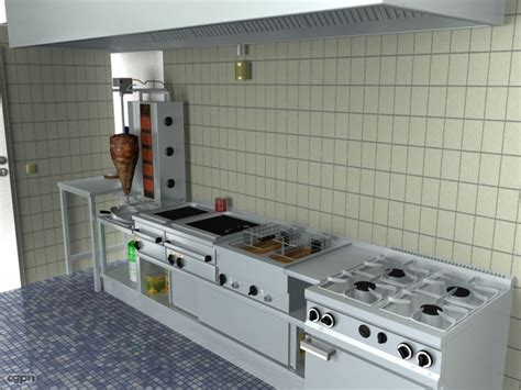 kitchen heat l model kitchen 3d model cgstudio