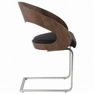 Chaise Design Contemporain : chaise contemporaine loing noyer et noir ~ Nature-et-papiers.com Idées de Décoration