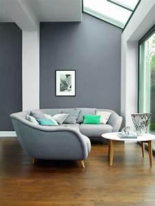 Graue Couch Wohnzimmer : wohnzimmer w nde grau altrosa ~ Michelbontemps.com Haus und Dekorationen
