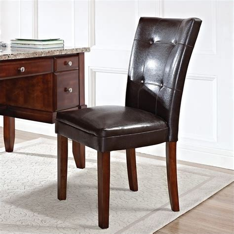 steve silver company montibello parsons chair w brown